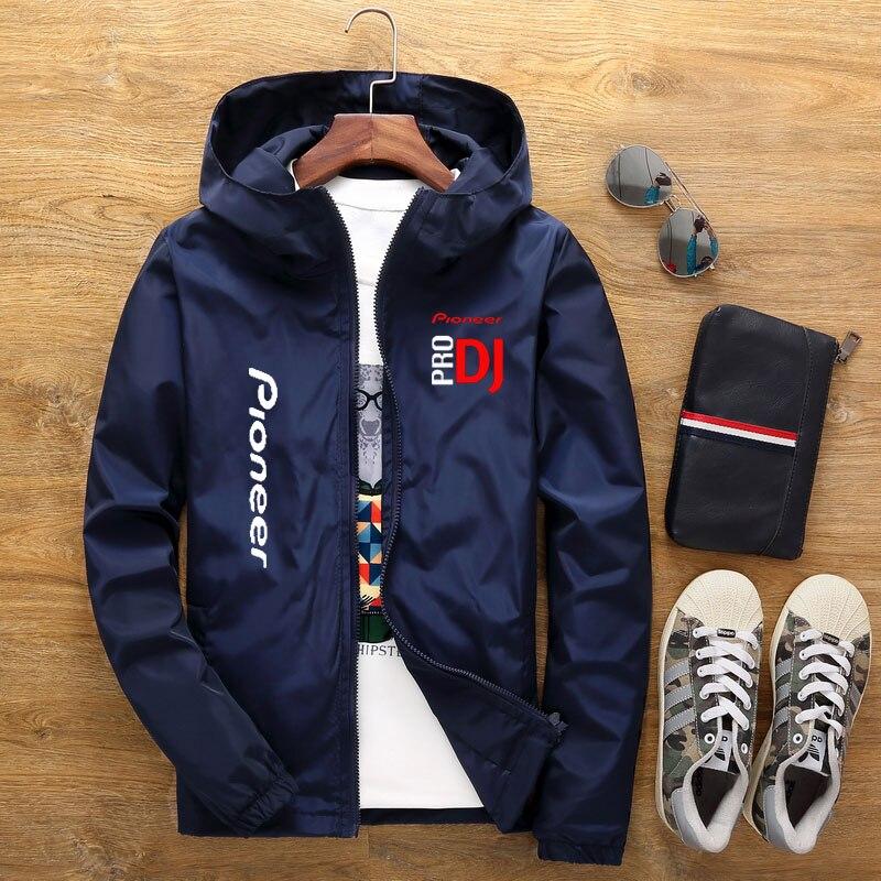 Весна и лето 2020 Новинка DJ Pioneer PRO Мужская куртка с капюшоном мужская уличная куртка Мужская ветрозащитная Повседневная куртка на молнии