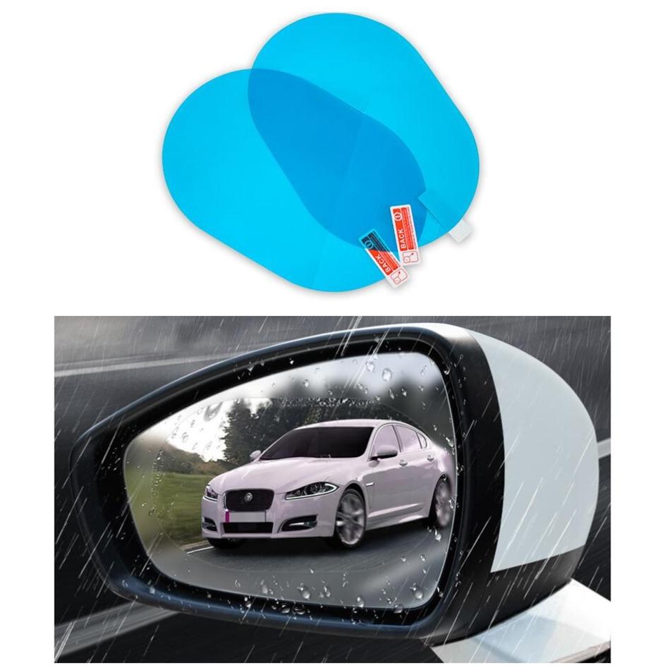 Película espejo retrovisor de coche pegatina de lluvia para honda accord 2003-2007 land rover descubrimiento 3 citroen c3 skoda octavia mazda 6 2014
