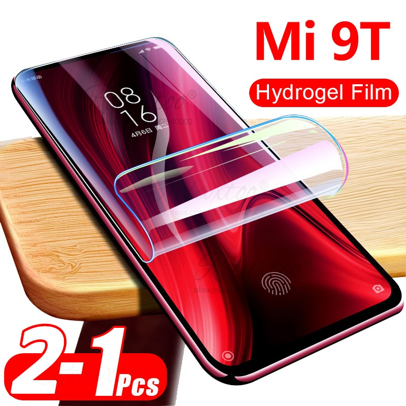 Película de hidrogel suave 100D para xiaomi mi 9 t Protector de pantalla completa en el xiomi kisomi mi9 t mi9t touch HD transparente (no cristal)