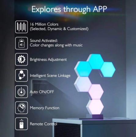Lifesmart Cololight Pro Smart Geometry Assembling DIY Lamp WiFi Work with Google Assistant Alexa Cololight APP Smart  - 8Set enlarge