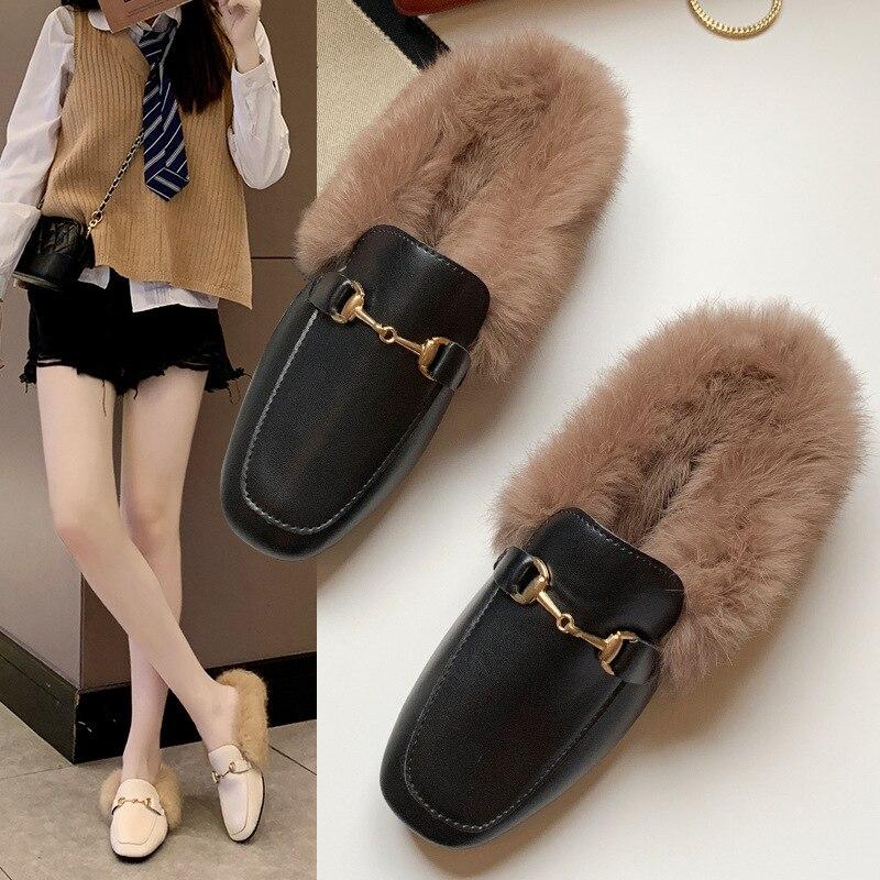 Winter Nicht-slip Schuhe für Frauen Faux Leder Wolle Flache Schuhe Warme Schnee Stiefel Damen Pelz Stiefeletten Mokassins schuhe 1215