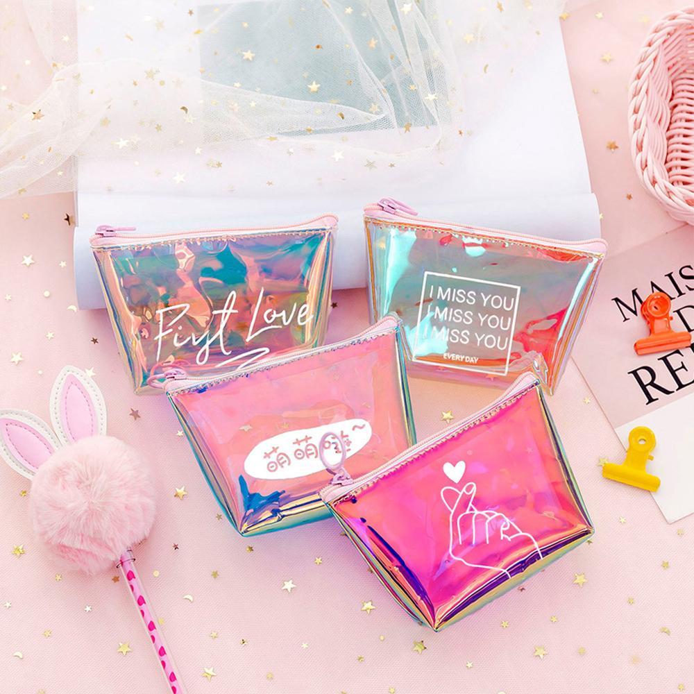 2019 Модный женский кошелек для монет, маленький мини кошелек из ПВХ на молнии для денег, ключей, наушников, держатель для монет, кошелек