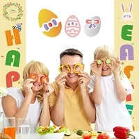 easter decoration porch sign welcome happy easter banner hanging display promotion for sign indoor outdoor easter party d%c3%a9cor