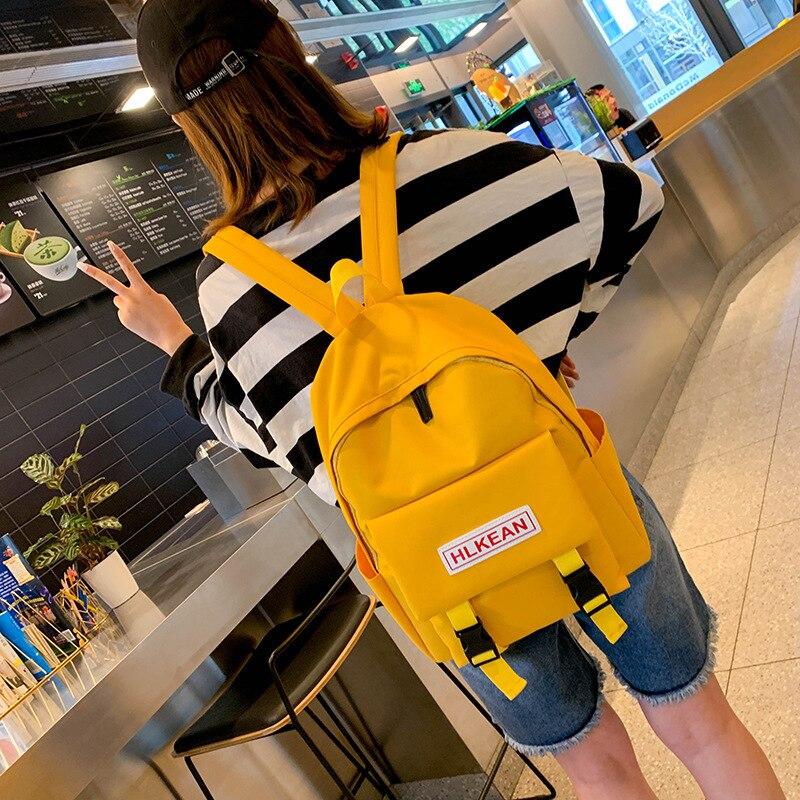 Женские рюкзаки Harajuku в Корейском стиле, модная однотонная сумка для школьников и девочек-подростков, детские рюкзаки, дорожная сумка, 2020