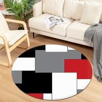 Modern Round Carpet Children Bedroom Bedside Mat Living Room Chair Large Carpet Home Kids Room Decorative Anti-Slip Floor Rugs