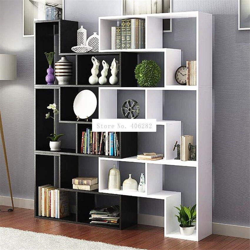 Armario de exhibición de 8859, mueble de vino multicolor para sala de estar, estantería de libros moderna para dormitorio, estantería de madera de aterrizaje para niños, estantería
