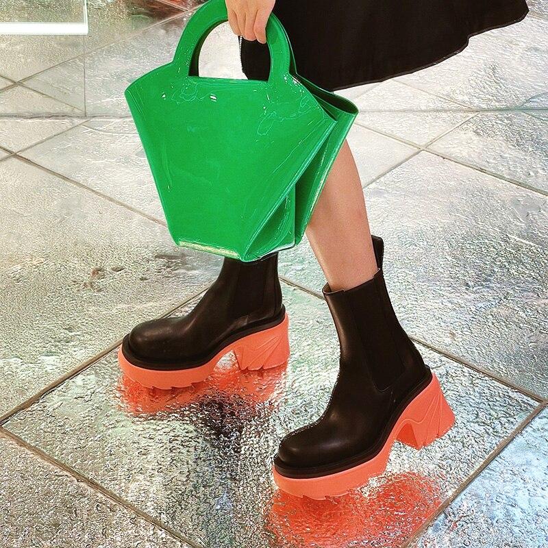 2021 جديد منتصف العجل أحذية عالية الكعب الصيف رقيقة المرأة صندل بكعب مكتنز عالية أعلى الأحذية النسائية الصيف