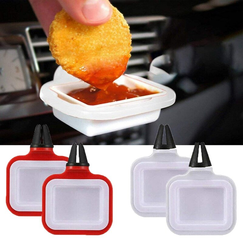 Salsa BBQ reutilizable soporte de Ketchup para coche soporte para salsas Dip Clip Mini taza de salsa para salsa de Ketchup