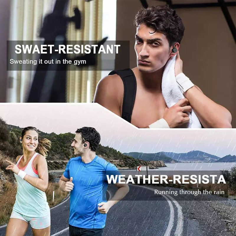TWS 5.0 Bluetooth Headset Wireless Earbuds IPX7 Waterproof Noise Cancelling Headphones for Mountaineering Running Hiking BE1018 enlarge