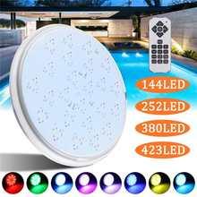 RGB 7 Farbe Schwimmen Pool LED Licht 144/252/380/423LED Unterwasser Lampe mit Fernbedienung fit für Schwimmen pool Brunnen Teiche