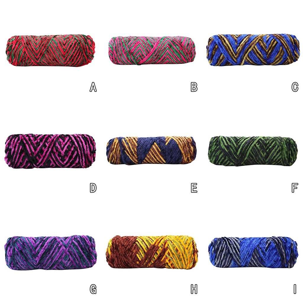 Fil de laine acrylique 9 couleurs, 100g par balle, fil de laine, Crochet, tissage à la main, fil de coton doux pour bricolage-même écharpe, fournitures de couture, # LR3