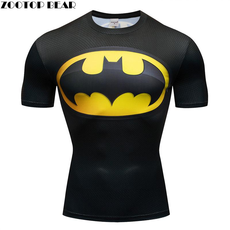Superman camiseta de hombre efecto 3D, camiseta de compresión Batman Beyond, Iron Man, camisetas rápidas para culturismo, camisetas de marca