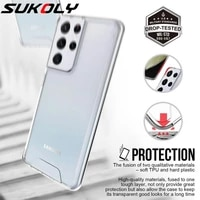 shockproof hard plastic back cover for samsung s21 ultra s20 fe hybrid soft tpu clear phone case for a22 a32 a52 a72 5g note 20