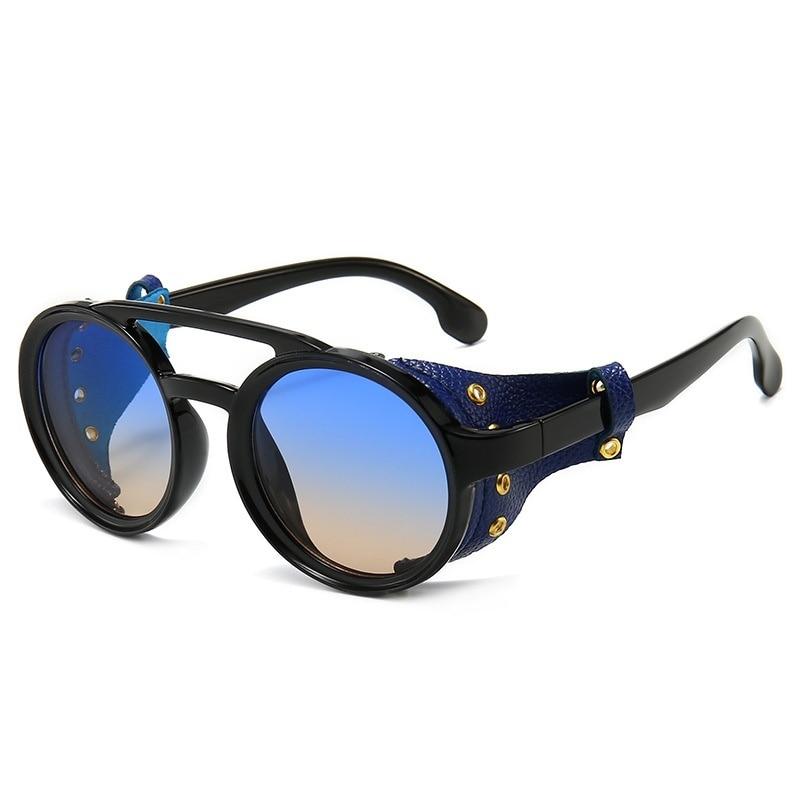 2020 Retro Round Steampunk Sunglasses Vintage Brand Design Men Women Vintage Sun Glasses UV400 Shade
