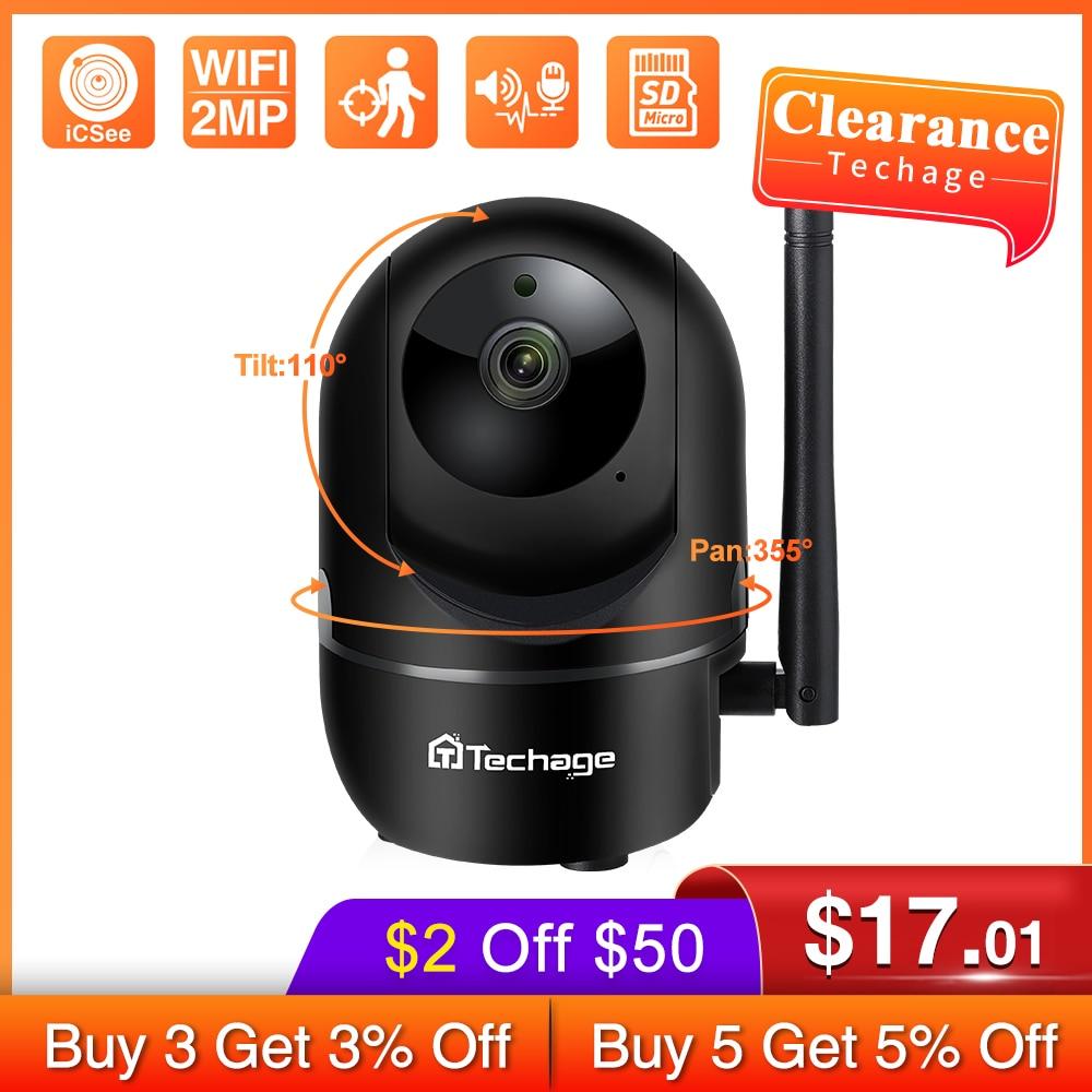 Techage 720P 1080P P2P Mini Pet IP كاميرا CCTV اللاسلكية السيارات تتبع كشف الحركة فيديو مراقبة الأمن كاميرا لمراقبة الأطفال