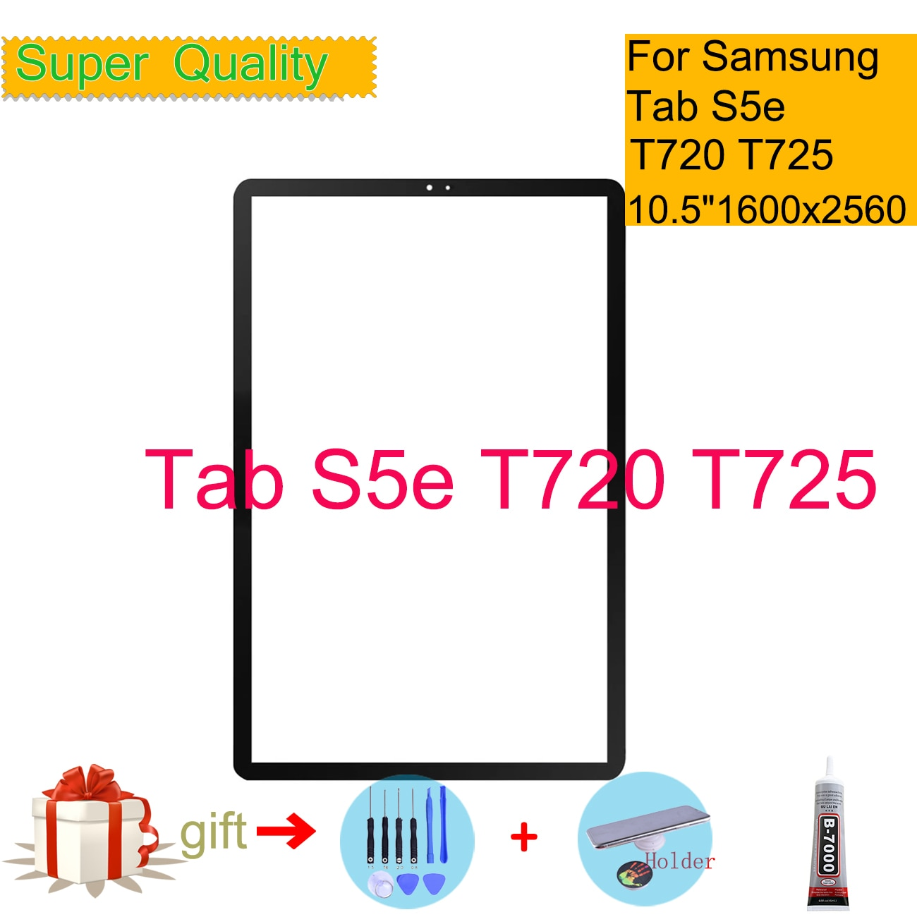 For Samsung Galaxy Tab S5e T720 T725 Touch Screen Panel Tablet SM-T720 SM-T725 Front Outer LCD Glass Lens Replacement