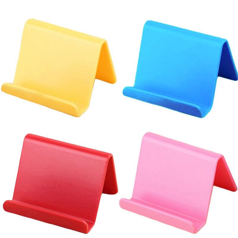 Soporte de teléfono móvil Color caramelo para Samsung para Xiaomi Smartphone soporte de teléfono Base para iPhone 7 8 X