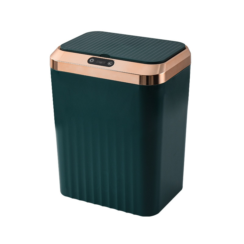 Automatic White Waste Bin Living Room Plastic Creative Waterproof Smart Trash Can Kitchen Storage Cubo Basura Household Products enlarge