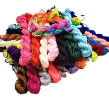 1mm * 21m 29 couleurs nouveau fil tresse chaîne fabrication de bijoux bricolage Nylon cordon pour chinois noeud Bracelet pour femmes hommes de haute qualité