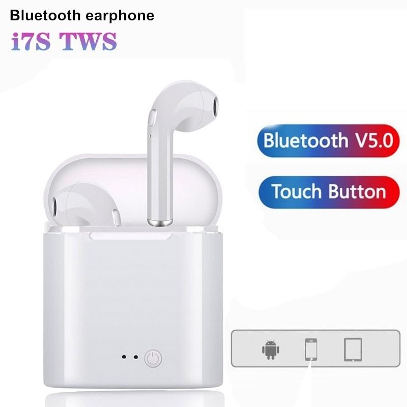 Auriculares inalámbricos Bluetooth Estéreo deportivo, Auriculares Bluetooth con vaina de carga para todos los teléfonos inteligentes I7s TWS