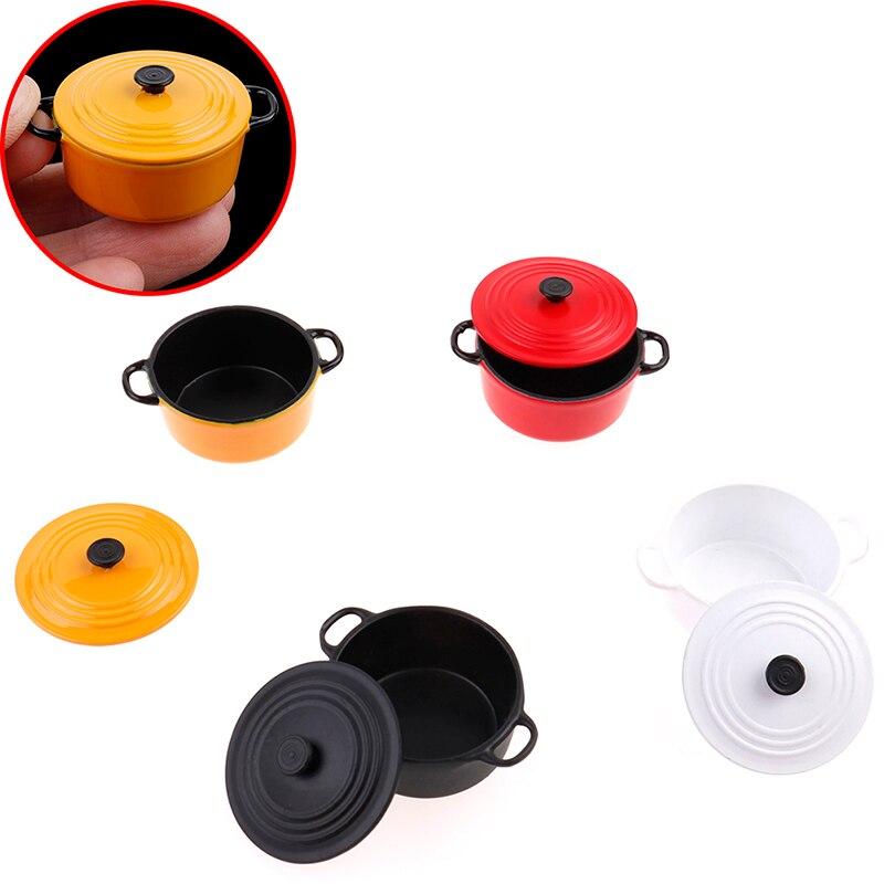 Mini olla Caldera, olla 112 miniatura casa de muñecas utensilios de cocina WareDoll casa accesorios para cocina de juguete