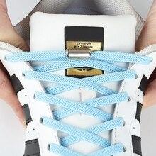 1Pair Piatto Elastico lacci delle scarpe Senza Lacci cravatta Per I Bambini e Adulti Scarpe Da Tennis Lacci Delle Scarpe Rapido Pigro Lacci 25 di Colore shoestrings