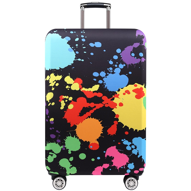 TRIPNUO Thicker Blue City Luggage Cover Suitcase Protective Cover for Trunk Case Apply to 19''-32'' Suitcase Travel Accessories