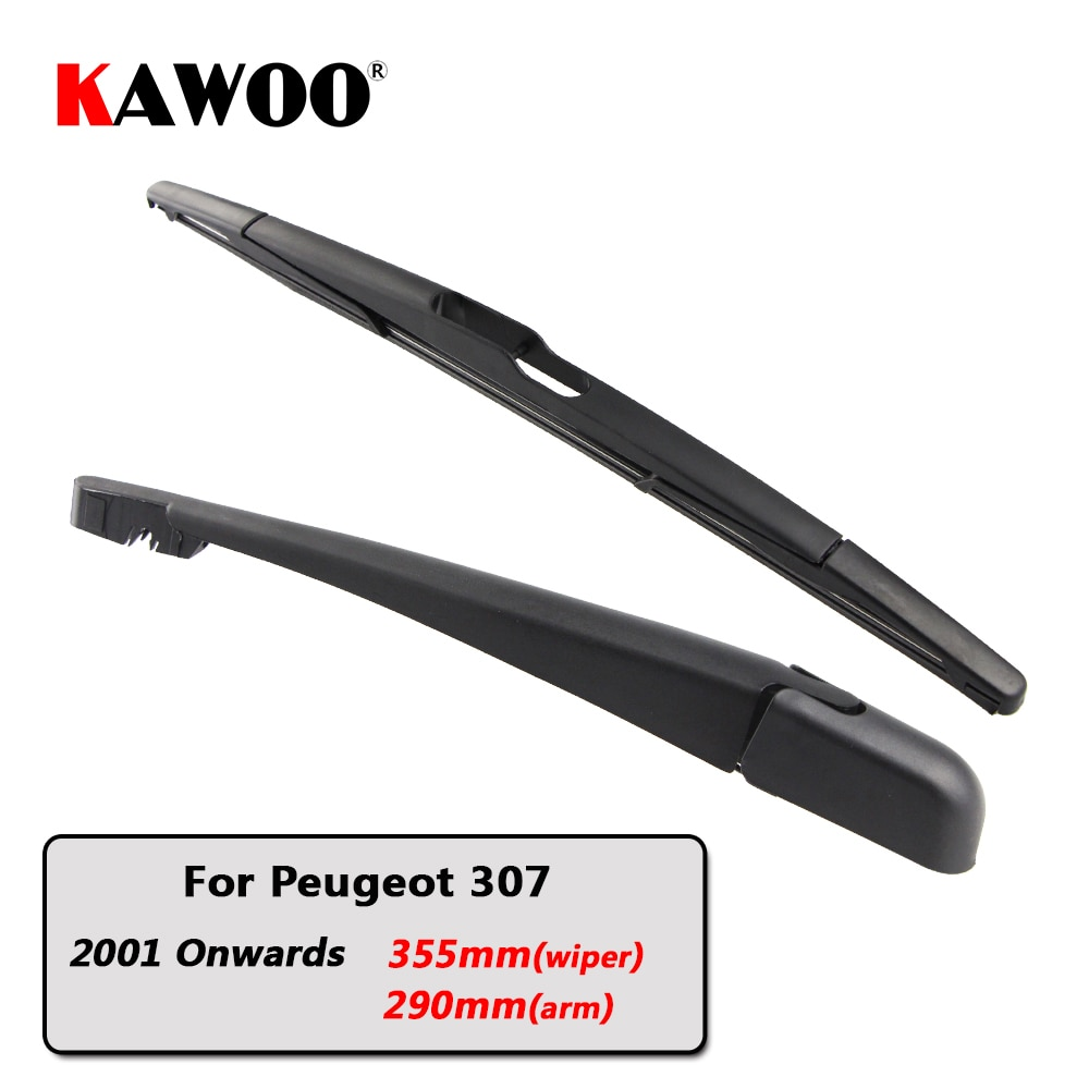 KAWOO Car Rear Wiper Blade Blades Back Window Wipers Arm For Peugeot 307 Hatchback (2001 Onwards) 355mm Auto Windscreen Blade