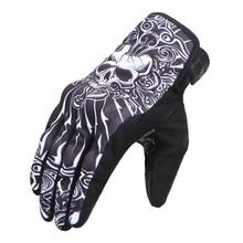 Череп перчатки мотоцикла Мото дышащие велосипедные перчатки с длинными пальцами гоночный для верховой езды сенсорных Экран мотоцикл защитные перчатки Экипировка