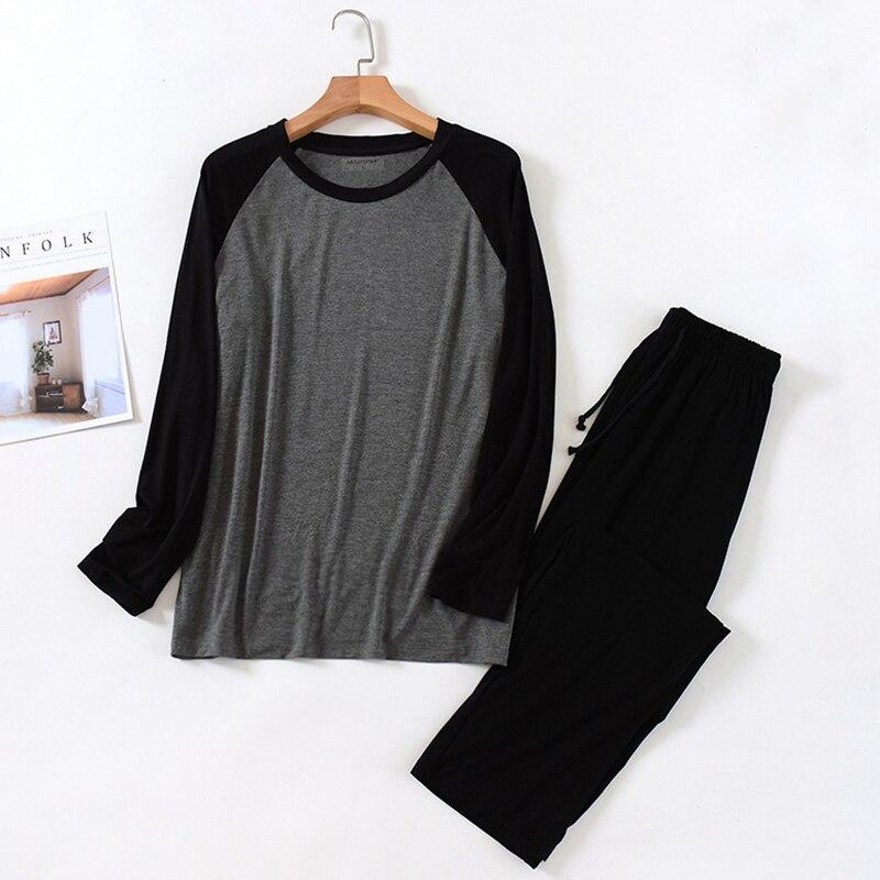 Men's Cotton Pajamas Drawstring Patchwork Sleepwear Cartoon Pajama Sets Casual Sleep&lounge Pyjamas Plus Size 4XL Pijama Full