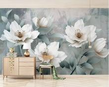 Beibehang  Custom wallpaper Vintage fashion HD 3d embossed flowers  TV  living room sofa background wall mural 3d wallpaper
