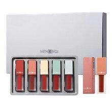 Coréen longue durée hydratant rouge à lèvres 5 pièces ensemble cadeaux pour femmes cosmétiques maquillage outils mat rouges à lèvres cadeau danniversaire