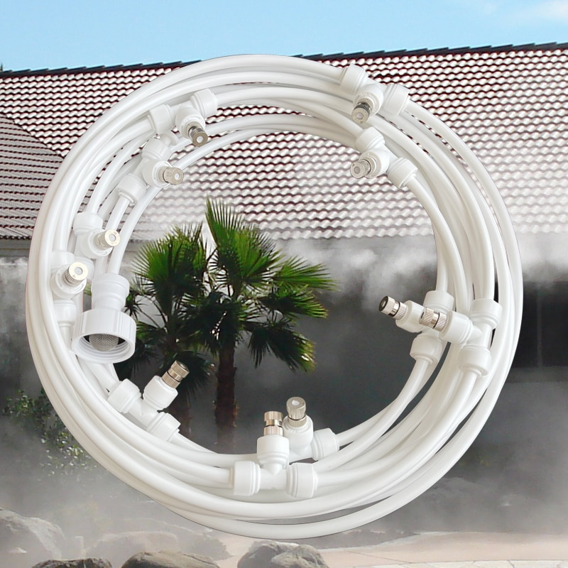 AliExpress - Quality Low Pressure 10M Atomizing Misting System Summer Sprinkler Slip Lock Nozzle Outdoor Garden Greenhouse Watering sets