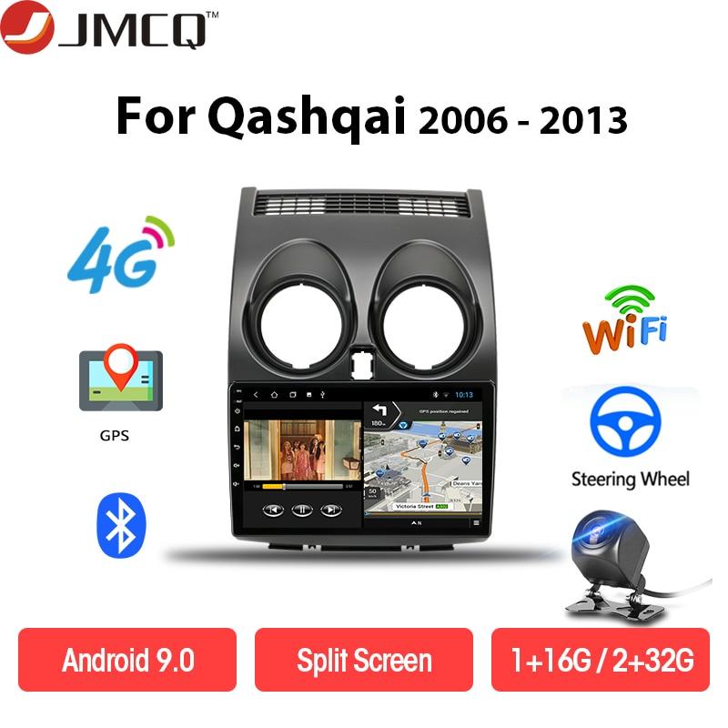 JMCQ Android Car Stereo dvd GPS Multimedia for Nissan Qashqai 1 J10 2006-2013 Head Unit 2G+32G Navigation Subwoofer 4G net