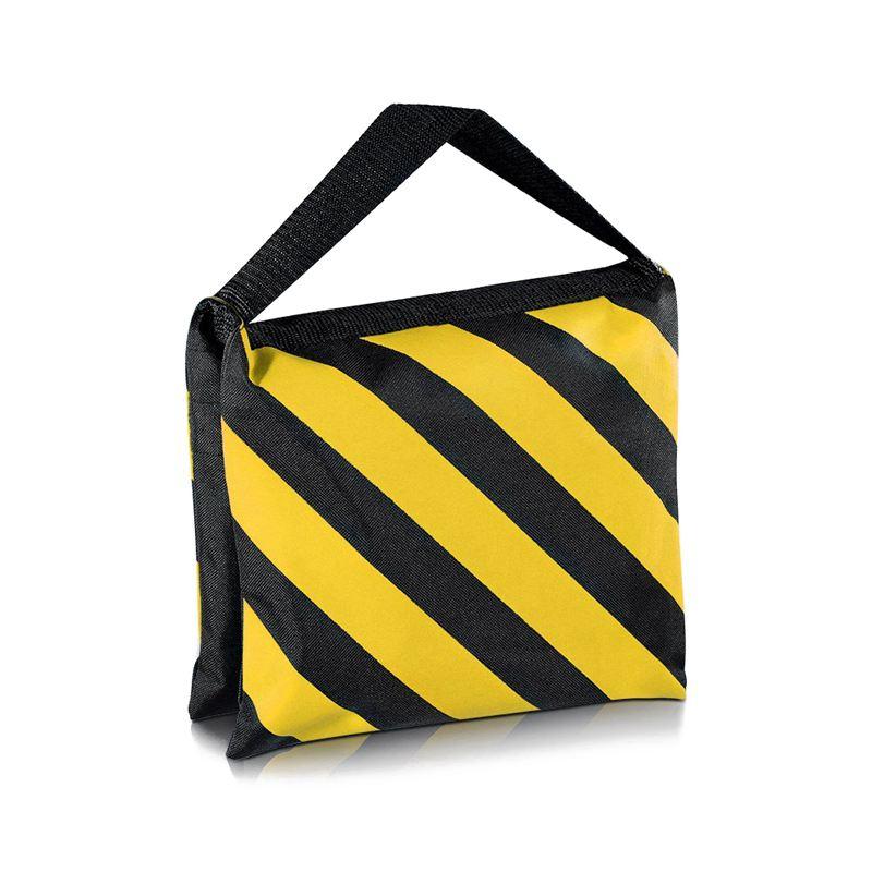 Bolsa de arena con mango doble para ABKT-6, alforja negra/amarilla para estudio fotográfico, trípodes de brazos de pluma