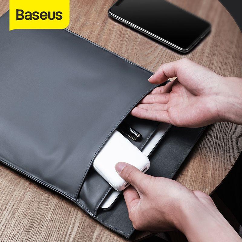 Funda Baseus para ordenador portátil, funda para Macbook Air Pro 13 14 15 16, súper fino, doble capa, forro para ordenador, funda para Dell Lenovo