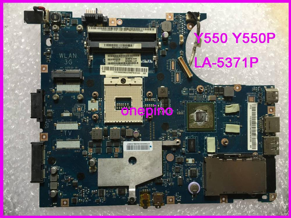 LA-5371P fit for Y550 Y550P Laptop Motherboard NIWBA 11S168003603 100% Work Perfect