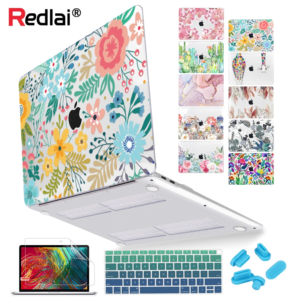 AliExpress - Floral Laptop  Case for MacBook Air A2337 A2179 2020 Pro 13 16 inch Touch bar A2289 A2141 A2338 Plastic Hard Case Keybaord Skin