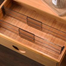 Divisor de partición de almacenamiento, organizador de bricolaje ajustable, duradero, para cajones y armarios, 2 uds.