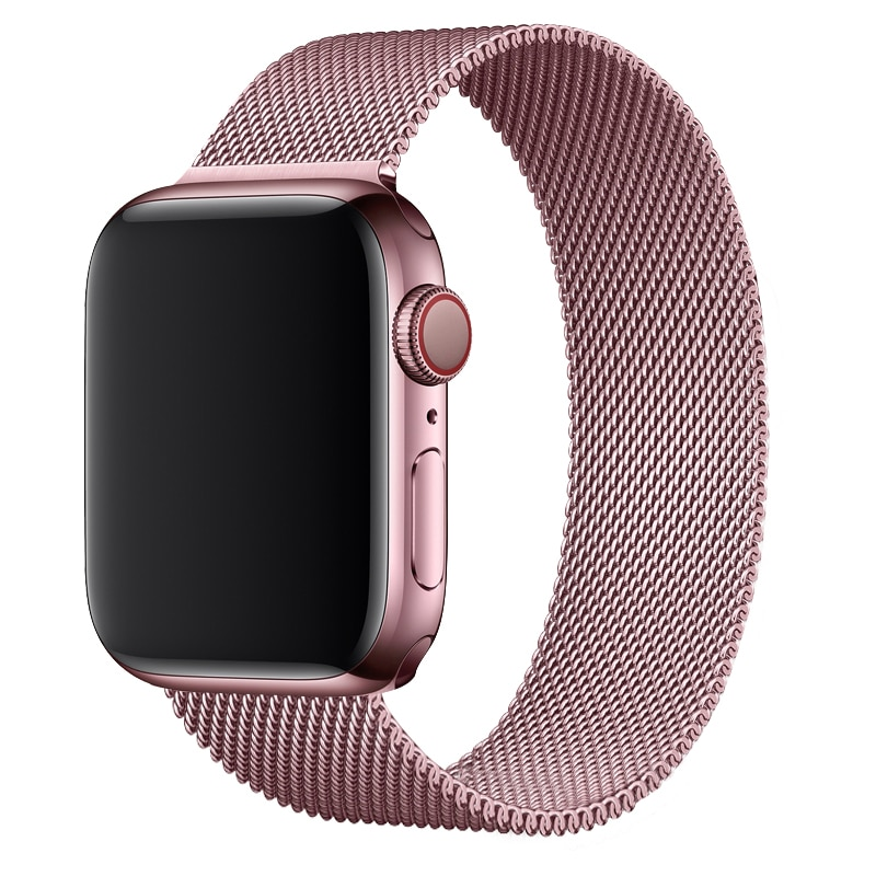 Milanese Loop For Apple watch band 44mm 40mm iWatch Band 38mm 42mm Magnetic Metal bracelet Apple wat