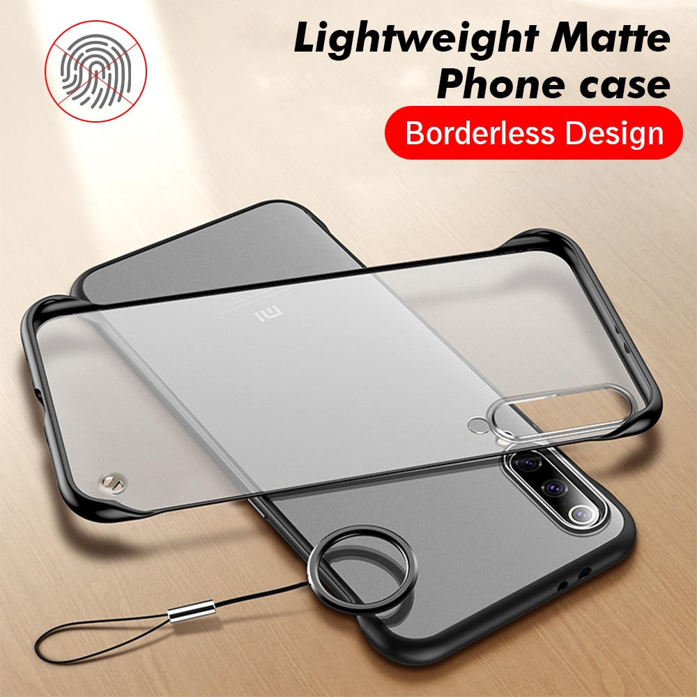 Frameless Transparent Matte Hard Case For Xiaomi Mi 10T Lite 10 Pro 9 8 A3 9T Poco M3 Redmi 9A 8A No