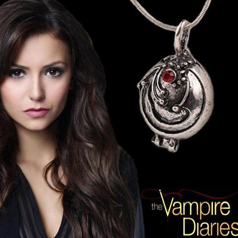 The Vampire Diaries Necklace Elena Gilbert Fashion Vervain Verbena Pendant Photo Locket Jewelry Men