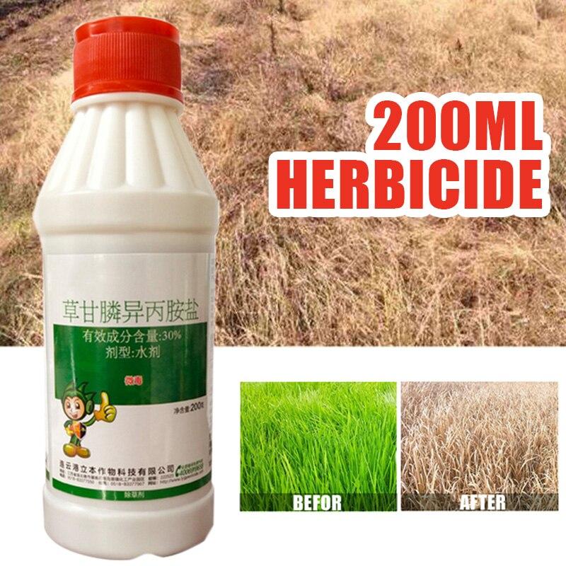 200ml Glyphosate Weed & Grass Killer Super Concentrate Volume Herbicide Remove Broadleaf Weed Directional Stem & Leaf