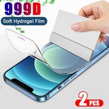 2PCS Hydrogel Film Für iPhone 12 11 Pro Max 7 8 Plus 12 mini SE 2020 Für Abdeckung bildschirm protector Für X XS MAX XR Nicht Glas Film
