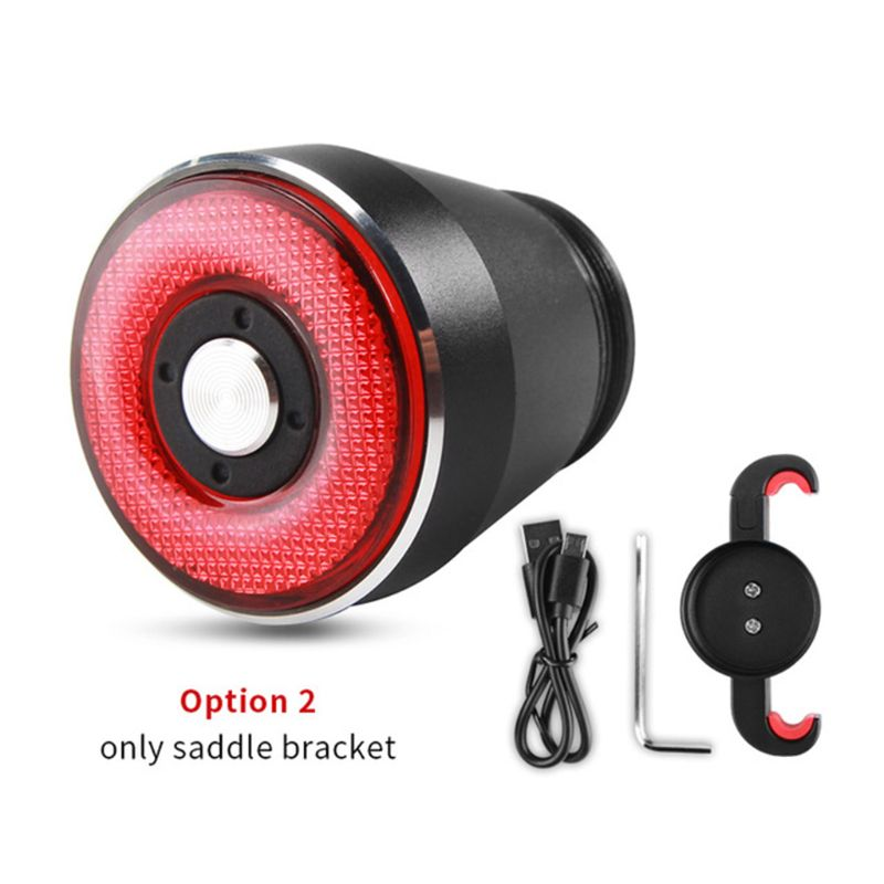 smart bicycle tail light, USB rechargeable super bright IPX6 waterproof brake sensor bicycle tail light, light-sensitive is K3NC