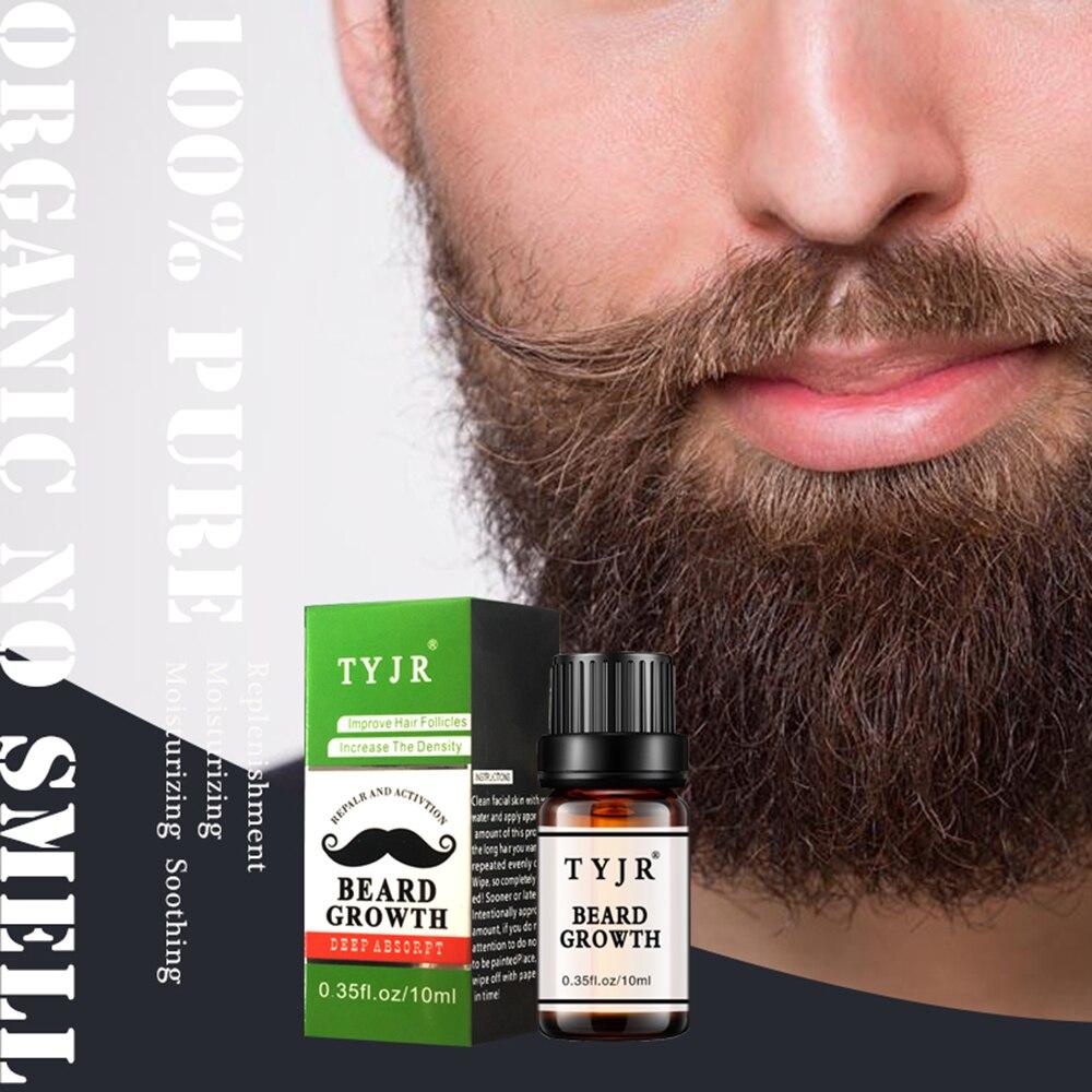 100% aceite Natural orgánico para el crecimiento de la barba espesar el aceite esencial de la barba Kit de acondicionador dejar en el crecimiento del cabello para los hombres TSLM2