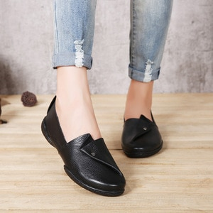 Clearance 80% discount leather four seasons shoes sandals casual flat shoes comfortable soft bottom women's shoes specials