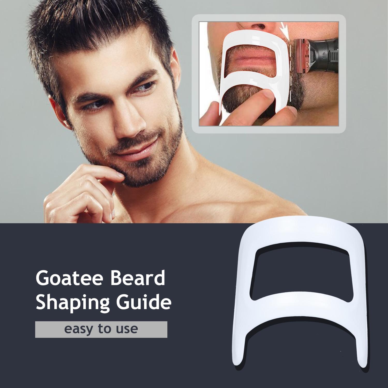 Modelo de guia de plástico transparente design bigode barba cavanhaque shaper barbear estilo masculino ferramentas estilo barba shaper