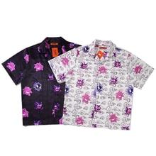 Casual impresso manga curta camisa masculina rua 2020 hawaii praia oversize moda feminina harujuku camisas para homem a02
