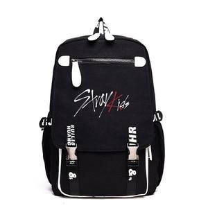 Детский черный рюкзак Kpop Stray, уличная дорожная сумка, школьный ранец, удобные модные детские принадлежности Kpop stray, вместительная Холщовая Сумка